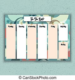 Retro weekly planner - Weekly planner with a retro design