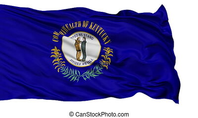 Isolated Waving National Flag of Kentucky - Kentucky Flag...