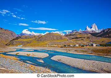 Stream in the valley of El Chalten - Amazing Patagonia in...