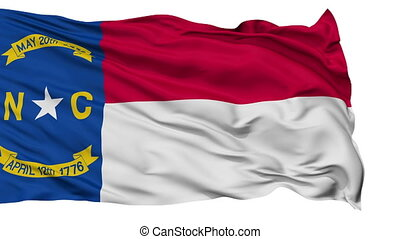 Isolated Waving National Flag of North Carolina - North...