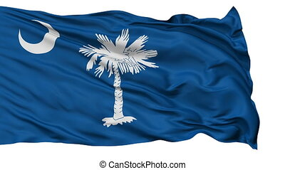 Isolated Waving National Flag of South Carolina - South...