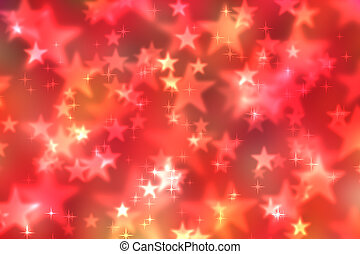 Abstract heart bokeh bright background