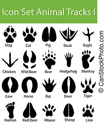 Icon Set Animal Tracks I with 20 icons for the creative use...