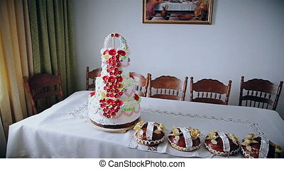 wedding bread on an embroidery towel - Traditional ukrainian...