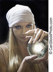 fortune teller - blond female fortune teller