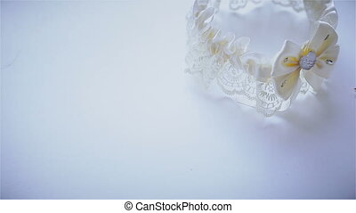 Wedding garter and earring HD