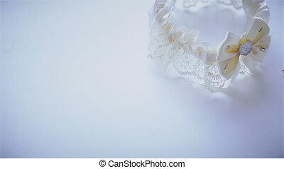 Wedding garter and earring