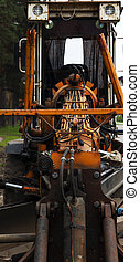tractor, close up
