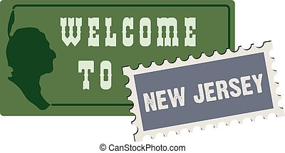 Welcome to New Jersey - Road sign welcome to new jersey...