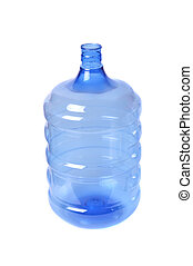 waters gallon - empty blue transparent waters gallon on...