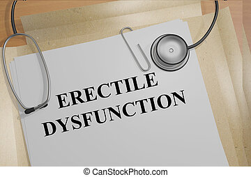 Erectile Dysfunction medicial concept - 3D illustration of...