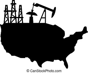 USA oil production, shade picture