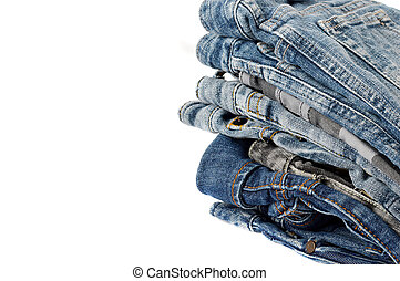 mini jeans for woman - stack of mini jeans for woman on...