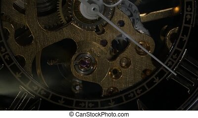 Watch mechanism Close up - Watch mechanism, watch mechanism...
