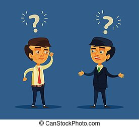 Business conflict Vector flat cartoon illustration