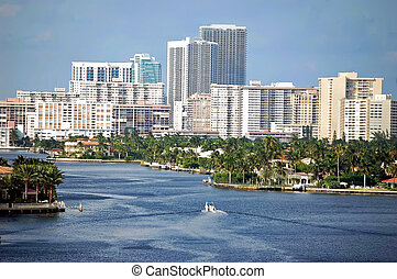 North Miami Beach Condos Skyline - North Miami Beach luxury...