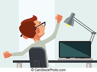 Good morning Vector flat cartoon illustration