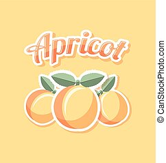 Retro apricot with title on pale orange background