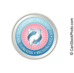 Teeth protection badge