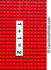Red brick showing numbers in multiple format