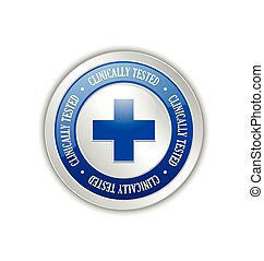 Clinically tested - Silver clinically tested symbol with...