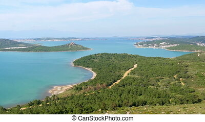 """landscape view of Devil's table, seytan sofrasi, ayvalik, turkey"""