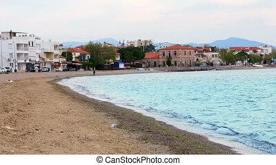 quot;daily life seaside coast, candarli, izmir, turkeyquot;...