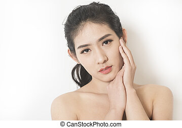 woman beauty and skin care