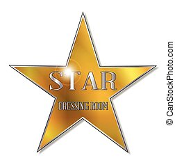 Star Dressing Room - The star as found on the dressing room...