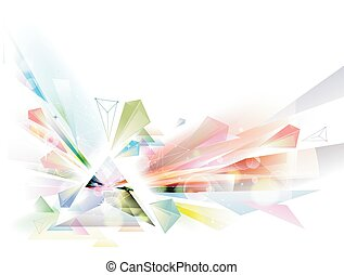 Abstract Prism - Illustration of an Abstract Prism Made with...
