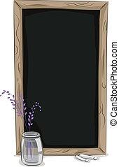 Chalkboard Frame - Illustration of a Chalkboard Frame and a...