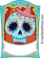 Sugar Skull Board - Illustration of a Sugar Skull Design...