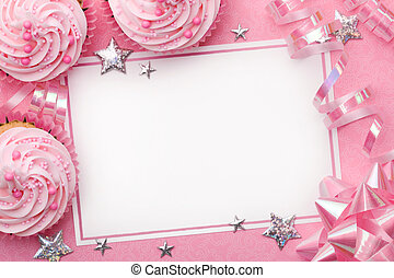 Party background - Pink party background with space for copy