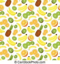 Seamless background with fruits - Seamless background with...