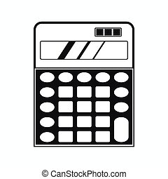 Calculator icon, simple style