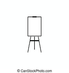 Blank flip chart icon, simple style - Blank flip chart icon...