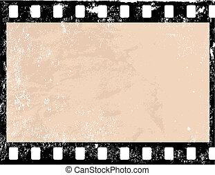 Grunge film frame - Illustration of a grunge filmstrip frame...