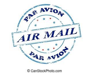 Air mail par avion - Rubber stamp with text air mail par...