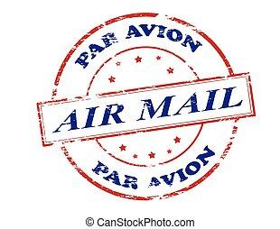 Air mail par avion - Rubber stamp with text air mail par...