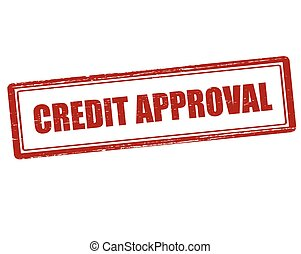 Credit approval - Rubber stamp with text credit approval...