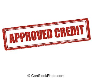 Approved credit - Rubber stamp with text approved credit...
