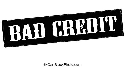 Bad credt - Rubber stamp with text bad credit inside, vector...