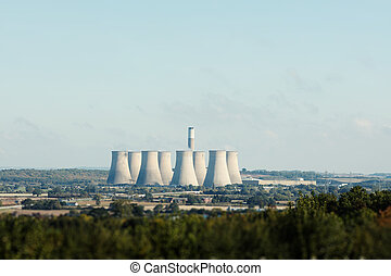Cooling towers - Uk Cooling towers at power plant