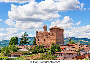 Old castle in small italian town. - Old medieval castle in...