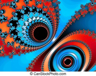 Abstraction fractal background - Digital computer graphic -...