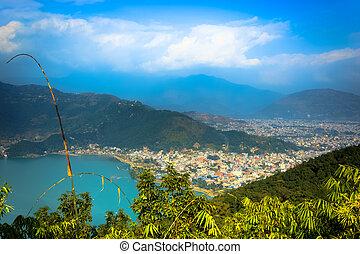 City of Pokhara,Nepal - The beautiful city of Pokhara Nepal...