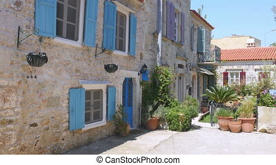 quot;traditional turkish houses, travel destination, foca,...