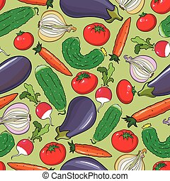 Seamless background with vegetables