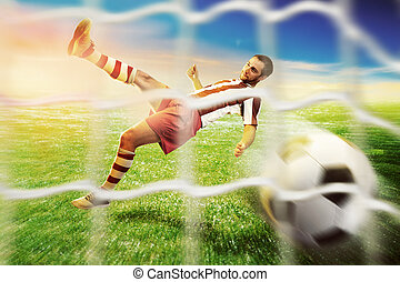 Football-player on the football ground - Football player...