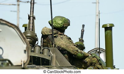 Armed Military Soldier - Russian Armed Military Soldier in...